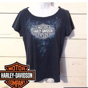 Harley Davidson Embellished Rhinestone Shirt 2X